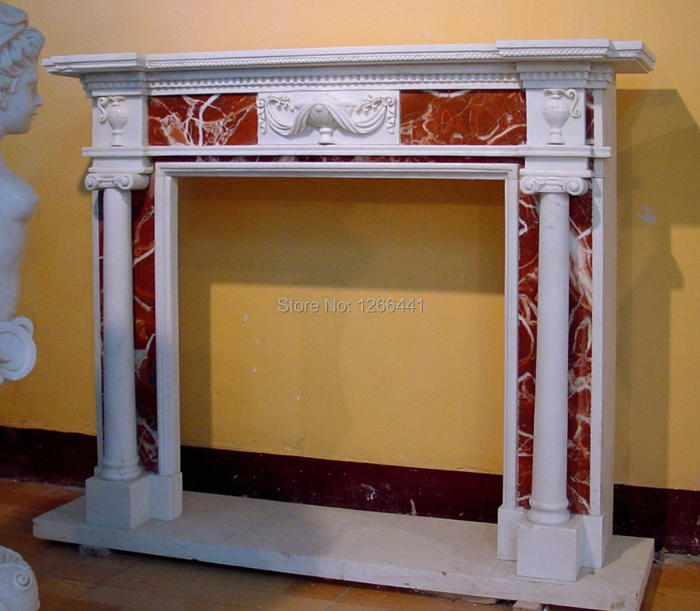 aliexpress com buy marble fireplace mantel english style carved