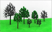 7CM green color  Railroad Layout Architectural model making materials scale plastic tree