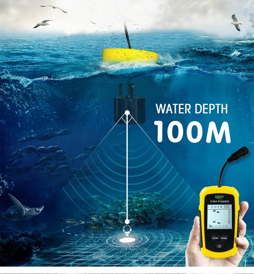 profundidade sonar sonda com fio fishfinder FF1108-1