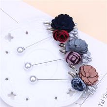 flower pin brooch cute pins and brooches for women rhinestone pearl metal leaf brosche