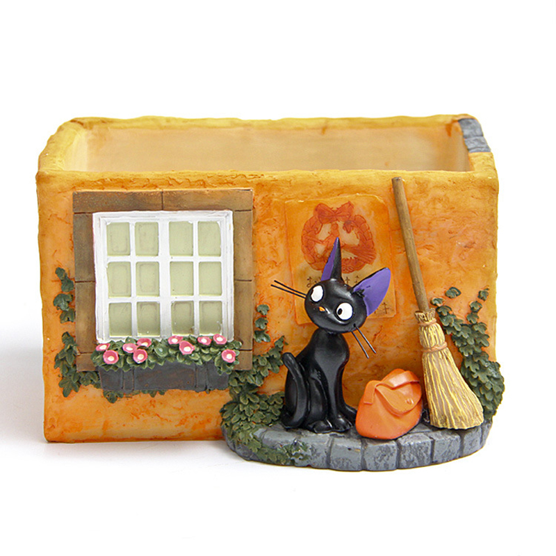 1pcs Studio Ghibli Miyazaki Kiki s Delivery Service Kiki Cat Magic Broom Bag House PVC Broom