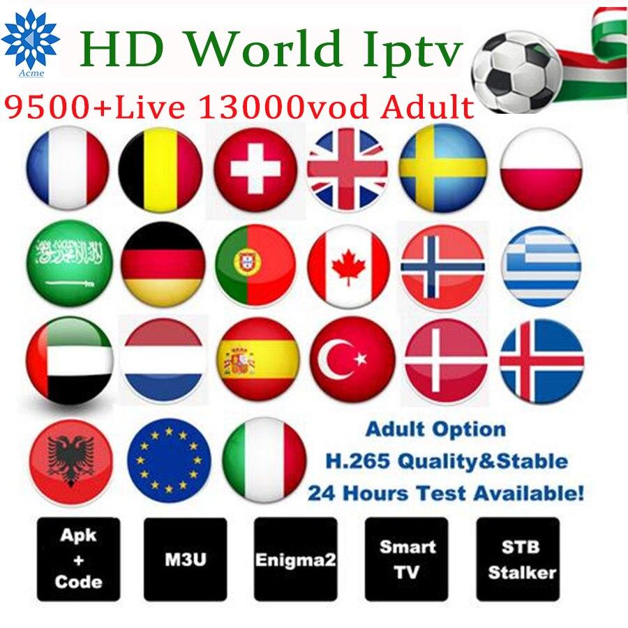 Italie iptv tv box 1 an abonnement portugal UK allemagne belgique France espagne pays-bas suède pour M3U Enigma 2 Android TV Box