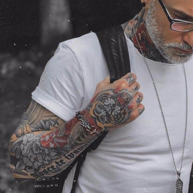 Mens הדרקון נושאים קישור צמיד עם אבזם רכיסה כסף צבע גברים פאנק bileklik נירוסטה תכשיטי pulseira masculina