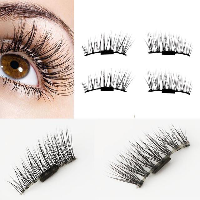 3a1fd7393f2 New 1 Pairs eye lashes natural wispies false eyelashes machine made makeup  fake eyelashes make up eyelash extension magnetic
