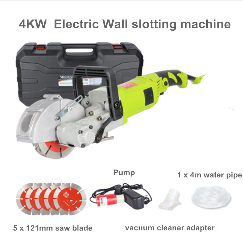 Best price 220V Electric Wall Chaser Groove Cutting Machine Wall slotting machine Steel Concrete cutting machine 4000W 36MM promotion sale copper welded m22 connector 168mm diameter 350mm length diamond core bit drill bits for drilling mansory concrete