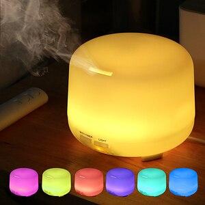 Image 2 - 300ml USB שלט רחוק קולי אוויר ארומה אדים 7 צבע LED אורות חשמלי ארומתרפיה חיוני שמן ארומה מפזר