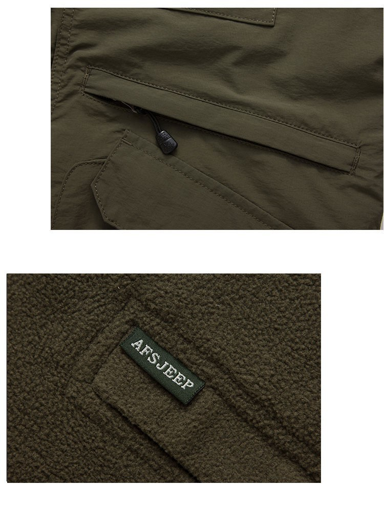 2015 Autumn Spring Casual Men Vest Coat Fleece AFS JEEP Cotton Multi Pocket 4XL Cargo Outdoor Sleeveless Jackets Waistcoat Vests (15)