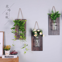 Glass Bottle Wooden Flower Decoration Home Furnishing Bedroom Wall Decoration Wall Mural American Village Plant Wall