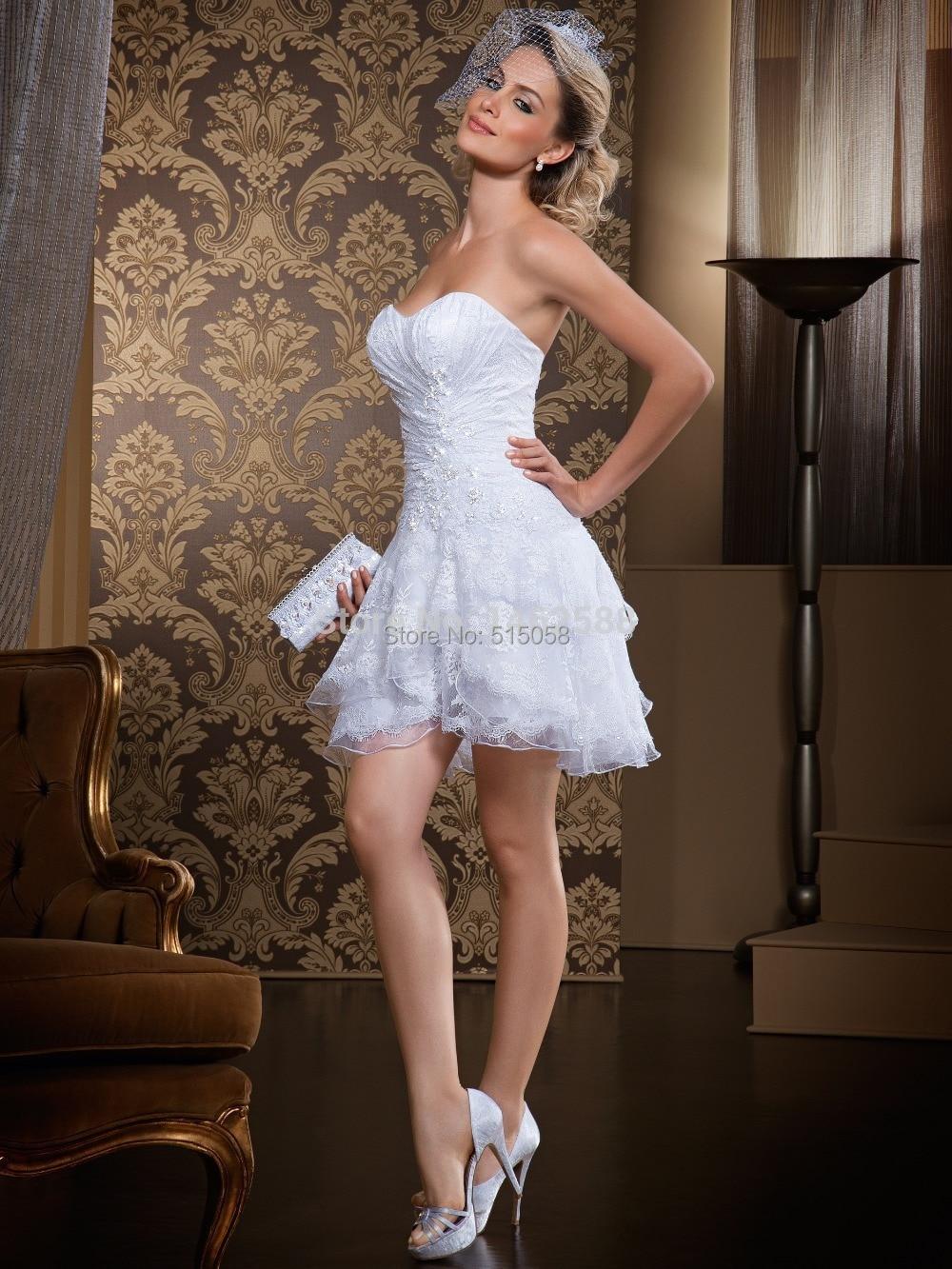 babydoll beach wedding dress mini wedding dress Short Wedding Beach Dresses