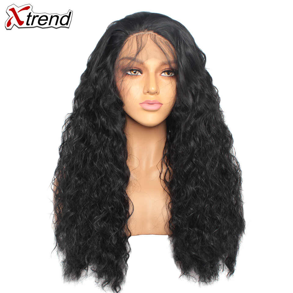 Peluca frontal de encaje sintético pelucas rosadas de densidad 180% para mujeres negras rizadas de pelo largo Natural de encaje Perruque Rosa 14 y 24 pulgadas