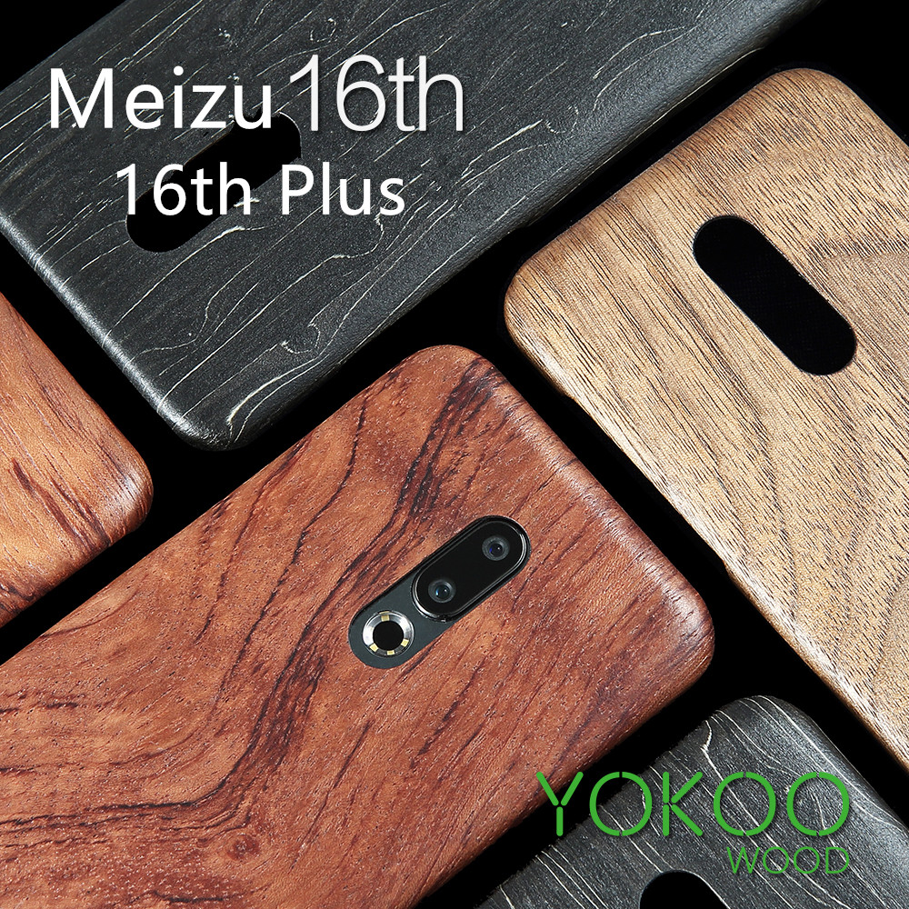 walnut Enony Wood Rosewood MAHOGANY  Wooden Slim Back Case Cover For Meizu 16th /16th PlusFitted Cases   -