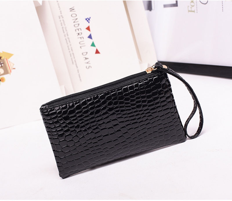 New Mini Day Clutches Women's Bag Korean Version Crocodile Pattern Clutch Bag Ladies Mobile Phone Bags Wallet PU Leather Handbag (8)