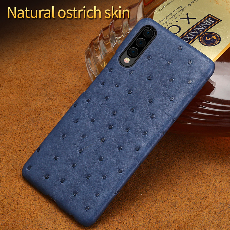 Luxury Original Ostrich leather For samsung a50 case cover Waterpfoof back cover For Samsung Galaxy A70