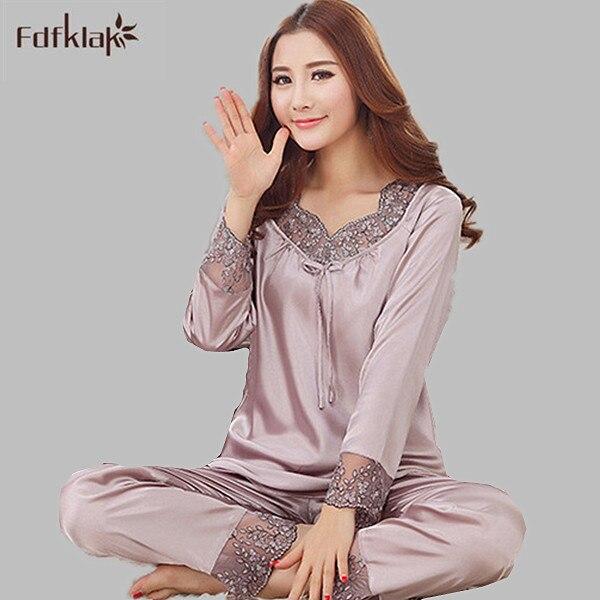 e2a0dceeb 2016 New Women Spring Autumn Pajamas Good Quality Pijamas Mujer Pyjama  Femme Plus Size Female Home