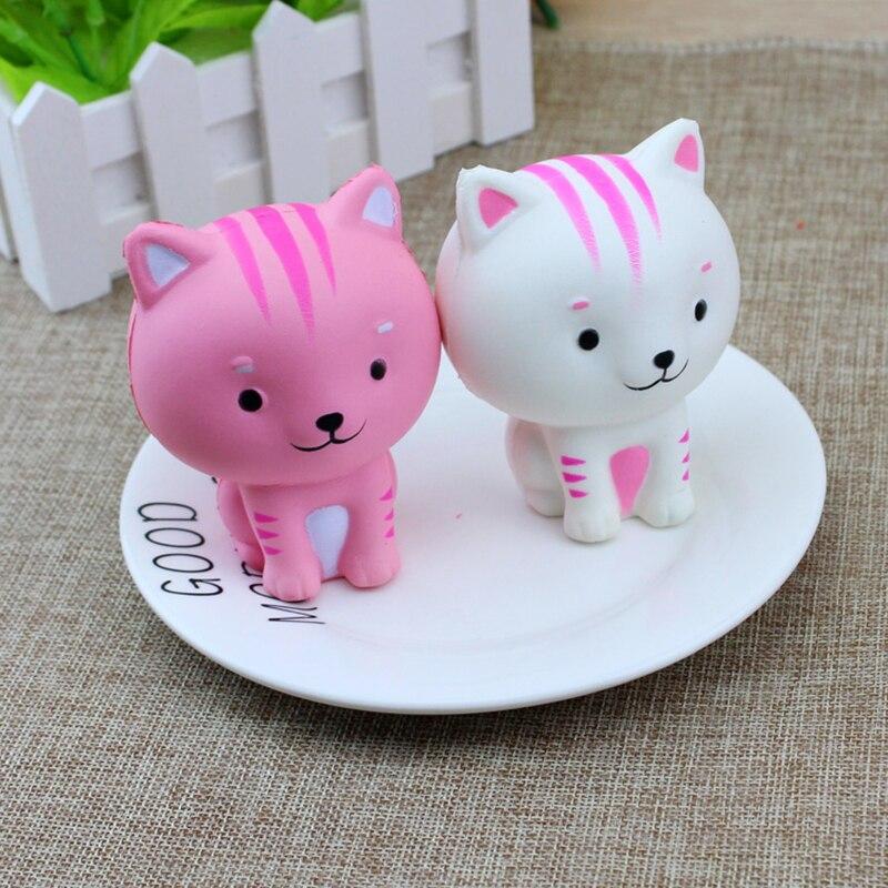 DoDoLu Cute Cartoon Cat Squishy Release Stress Slow Rising <font><b>Phone</b></font> Straps Mini Kitten Soft Squeeze Bread Charms Scented <font><b>Kids</b></font> <font><b>Toys</b></font>