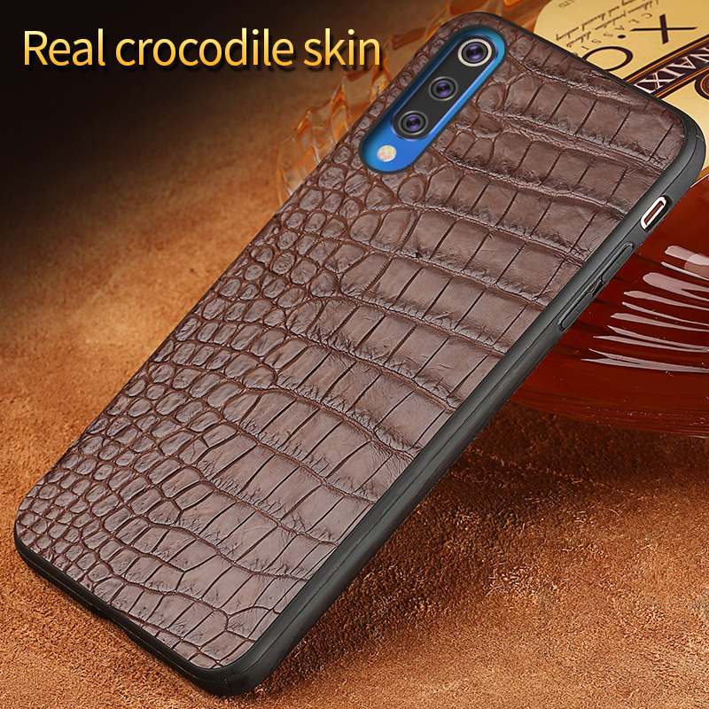 Luxury Leather cases for Xiaomi 9 9se Real crocodile Leather back cover for Xiaomi 8 8se 6 6x protect funda For Redmi Note 7Luxury Leather cases for Xiaomi 9 9se Real crocodile Leather back cover for Xiaomi 8 8se 6 6x protect funda For Redmi Note 7