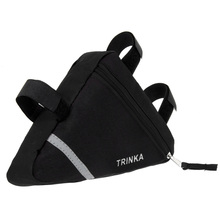 Waterproof Cycling Bags Bike Front Tube Storage Bags Triangle Black Fabric Bicycle Frame Pouch Saddle Bag Bicycle Accessories