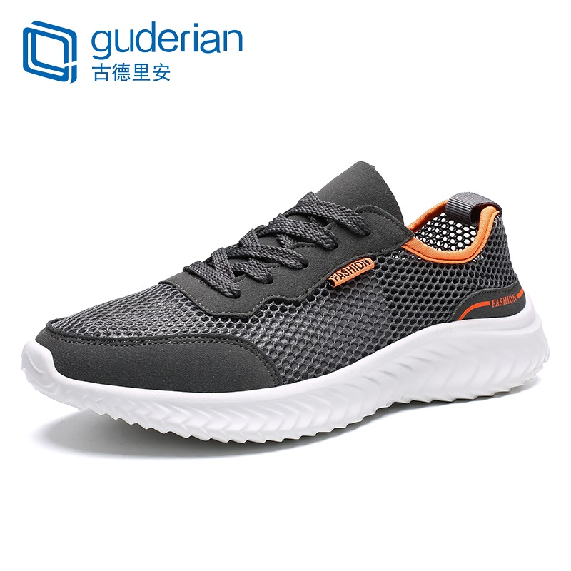 f70951a5 GUDERIAN/Новинка; большие размеры 36-47; модная мужская повседневная обувь  дышащая кроссовки