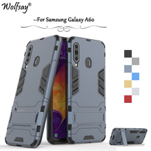 For Samsung Galaxy A60 Case Luxury Slim Armor Rubber Hard Phone Back Cover Fundas *