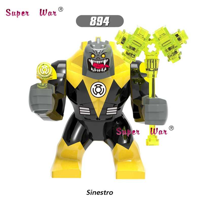 เดี่ยวขนาดใหญ่ Marvel Green Lantern Kilowog DC สีเหลือง Lantern Sinestro Thanos Venom Carnage Batman Building Blocks ของเล่น