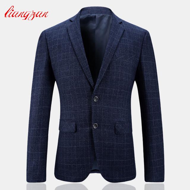 Homens Terno Xadrez Blazer Nova Marca TopQuality Vestido Formal do Negócio Blazer Terno Masculino Jaqueta Casual Jaqueta de Algodão Terno SL-K231