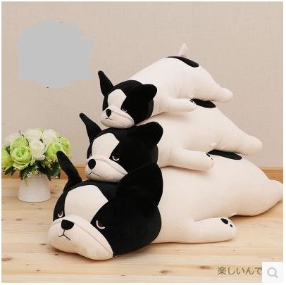 1Pc 50-85Cm 3 Colors Cute Lying down French bulldog plush stuffed toy doll model soft cotton dog pillows baby kids birthday gift stuffed animal 44 cm plush standing cow toy simulation dairy cattle doll great gift w501