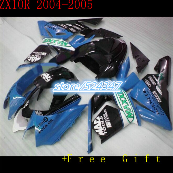 Il 100% più poco costoso di vendita moto repsol Kawasaki NinjaZX 04 05 ZX 10 10 blu carenatura del corpo nero parte per Ninja Nn