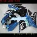 Le 100% moins cher vente motos repsol Kawasaki NinjaZX 04 05 ZX 10 10 corps bleu carénage pièce noire pour Ninja Nn