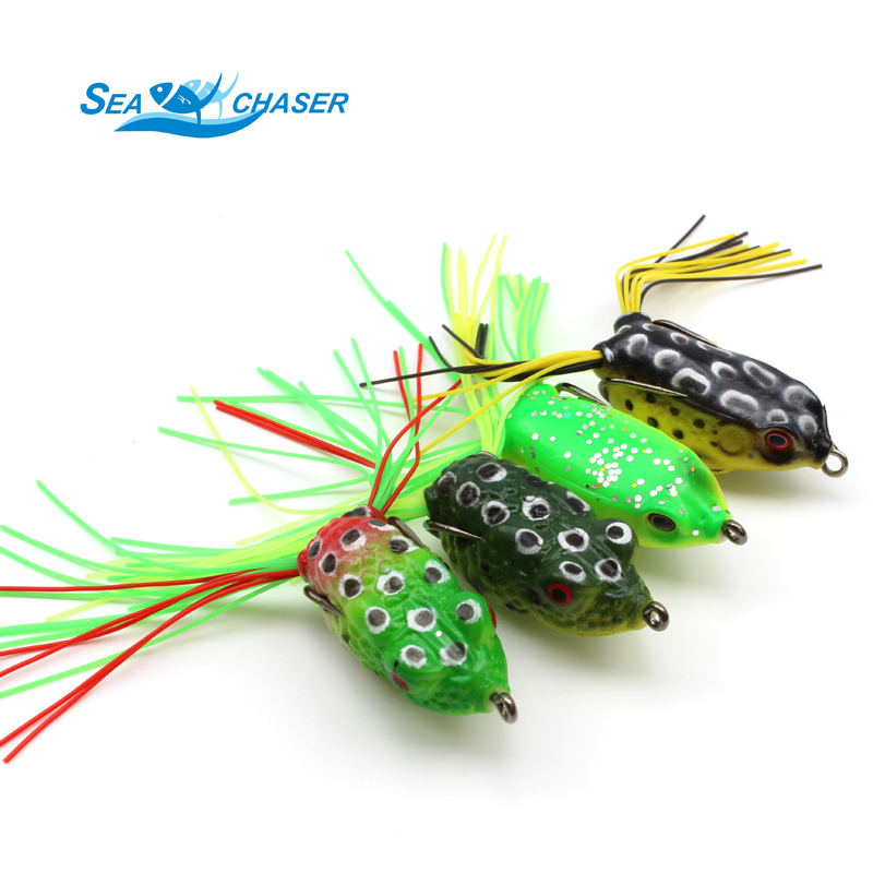 2017 NUEVO 10pcs 10 colores Topwater Frog and Mouse Hollow Body Soft - Pescando - foto 4