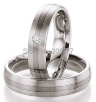 luxury handmade titanium stainless steel white gold color mens and womens engagement wedding bands cz diamonds couples Rings