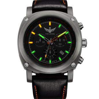 где купить YELANG V3.2 self luminous men sapphire mirror corium leather strap sport outdoor diving waterproof titanium alloy quartz watch по лучшей цене