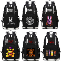 2019 New Five Nights At Freddy's Freddy Backpack Chica Foxy Bonnie FNAF Shoulder Bag Travel Bag Computer package