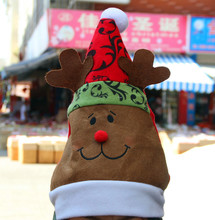 3 Style 28*35cm Xmas Red Cap Santa Novelty Hat for Christmas Party Santa Claus Snowman Elk Christmas Hats