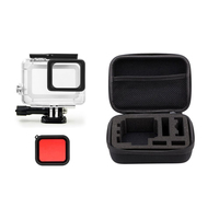 Protective Waterproof Housing Case Kit Action Camera Red Filters Shockproof Carry Bag For GoPro Hero 5