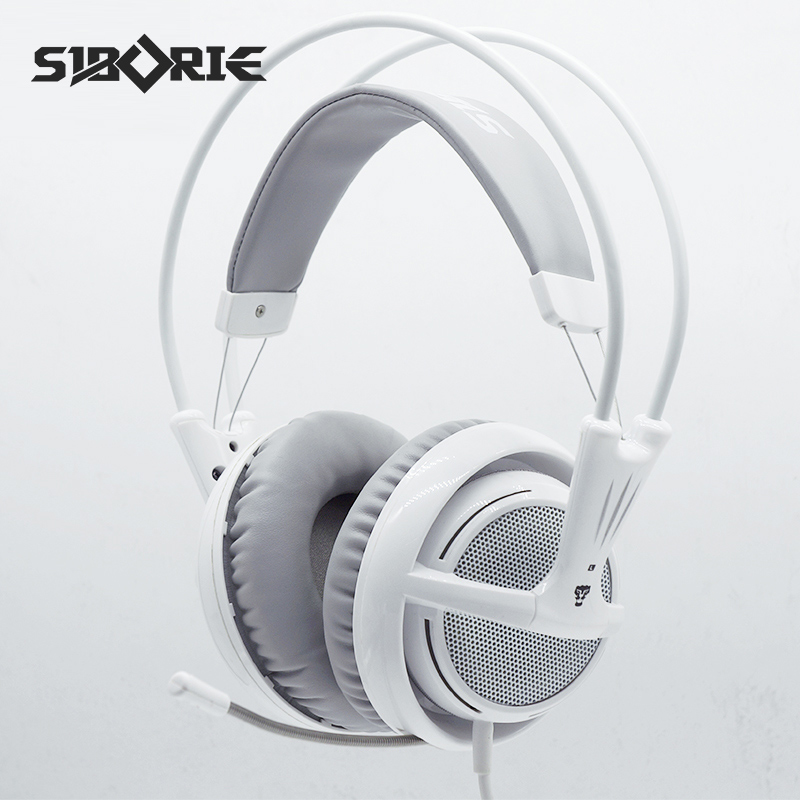 SIBORIE V1 Earphone Gaming Headset gamer LED Light Hi-Fi Headphones MP3 with microphone for computer PC LOL Steam each g1100 shake e sports gaming mic led light headset headphone casque with 7 1 heavy bass surround sound for pc gamer