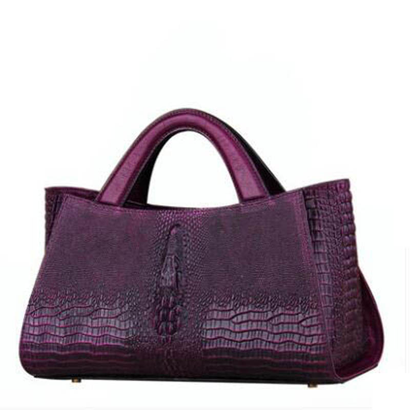 Muster black Echtes Neue Purple Taschen Designer green brown Marke Krokodil Leder Für Frauen Luxus red 2019 Handtaschen qU4C8U6wx