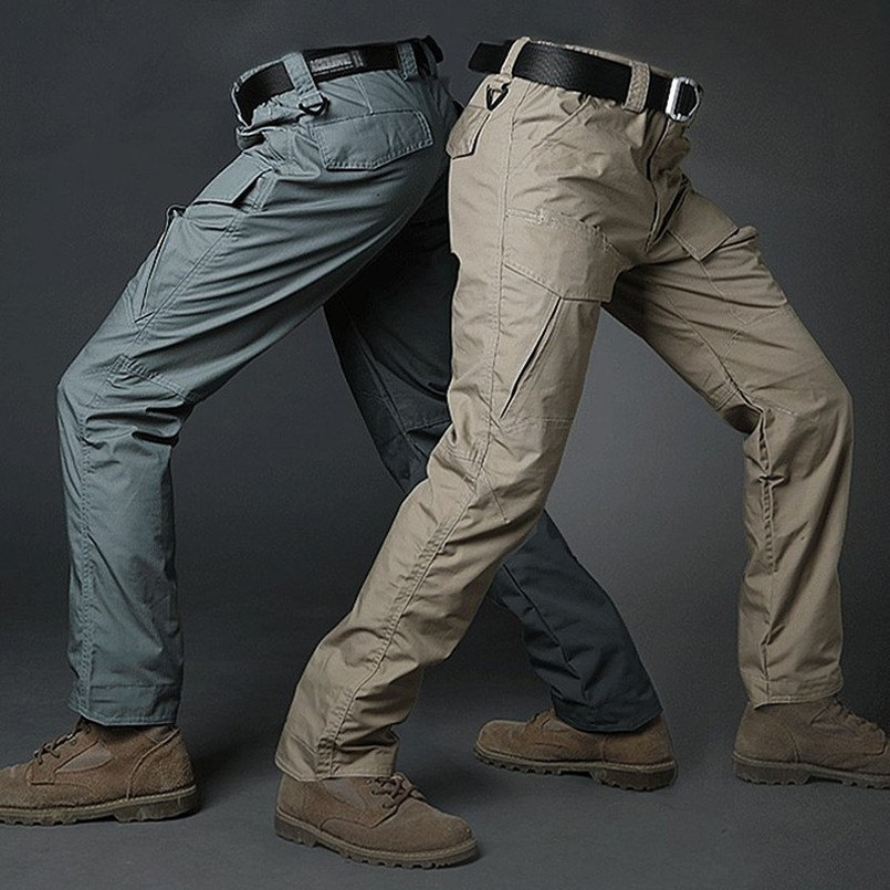 Waterproof Army SWAT Combat Cargo Pants Military Tactical Nylon Big Pocket Trousers Men Breathable Rip-stop Quick Dry Pants