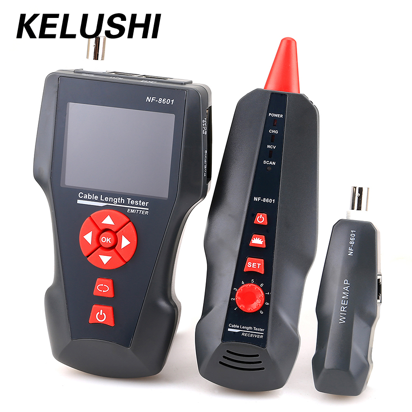 NF-8601 Multi-functional Network Cable Tester LCD Cable length Tester Breakpoint Tester English version wide flex cable version 100