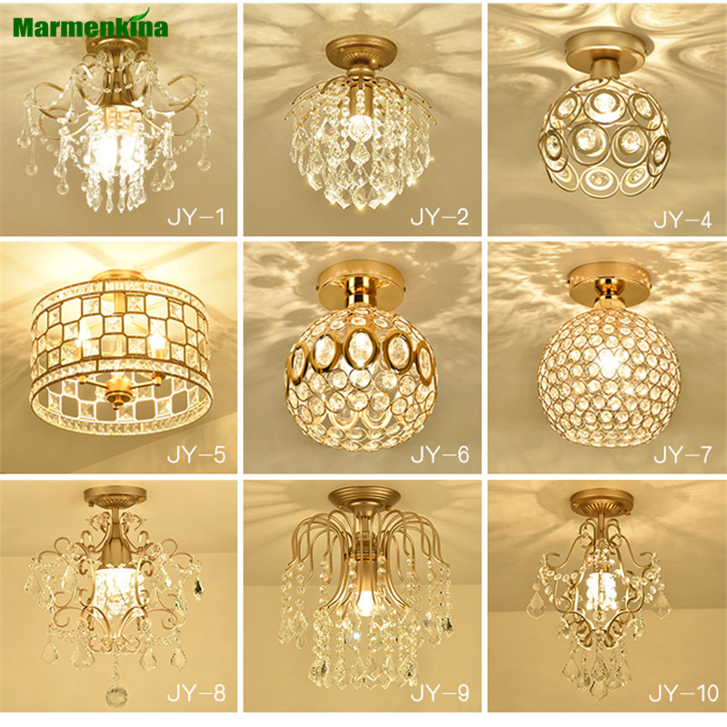 American Crystal Ceiling Lamp Hall Entrance Entrance Passway Corridor Bar Counter Light European Crystal Light AC110-240V bright colorful led lamp installed inside the entrance hall light corridor lamp ceiling lamp lamp stunning