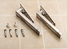 Sturdy Microwave Universal Extendable Folding Wall Mounting Supporting Bracket With Screws