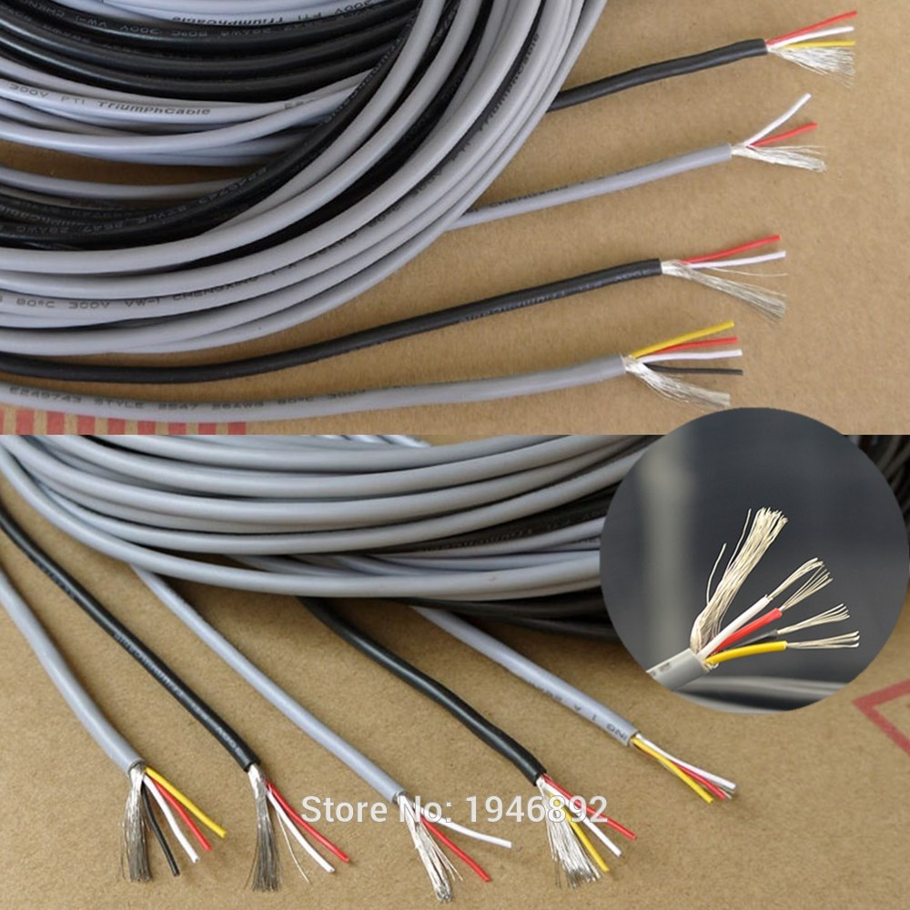 Beleuchtung Zubehör 1 Mt Ul 2547 28/26/24 Awg Multi-core Steuerkabel Kupferdraht Abgeschirmt Audio Kabel Kopfhörer Kabel Signalleitung