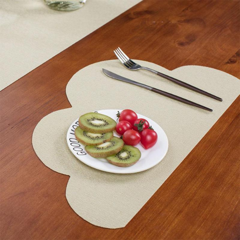 Hot Pad Drink Coaster Irregular Cloud Shaped Tablecloth Restaurant Kitchen Accessories Decoration Table Napkins Placemat S4