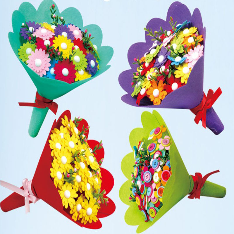 Childen Diy Art Craft Hand Bouquets For Teacher S Day Mother