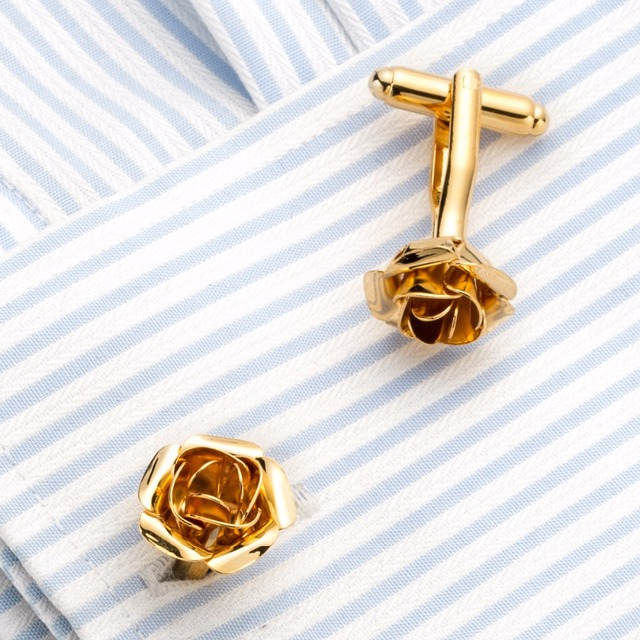 Vagula Rose Cuff Links French Shirt Cufflinks Jewelry Wedding Design Gemelos 717