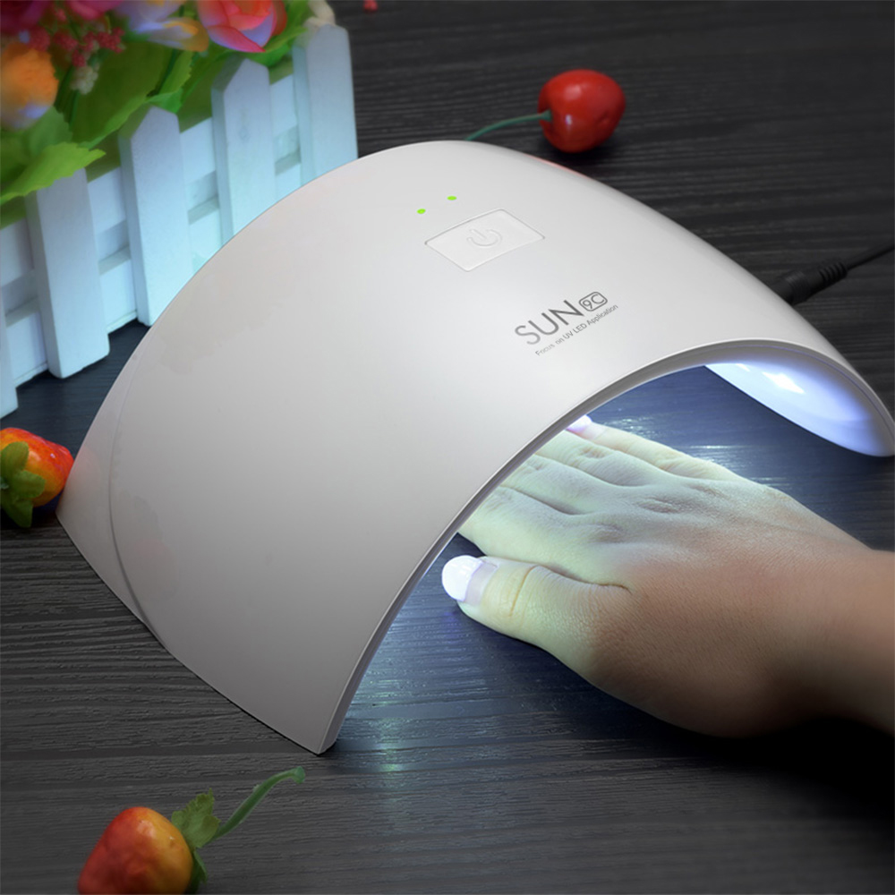 UVLED SUN9c Lamp Nail 24W UV Nail Lamp Polish Machine Nail Varnish Dryer LED Defence UV Nail Dryer