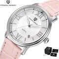 Pagani Design Marke Luxus Uhr Frauen Rosa Leder Band Mode Quarz Armbanduhr Stahl Wasserdichte Uhr Frauen reloj mujer 2018-in Damenuhren aus Uhren bei