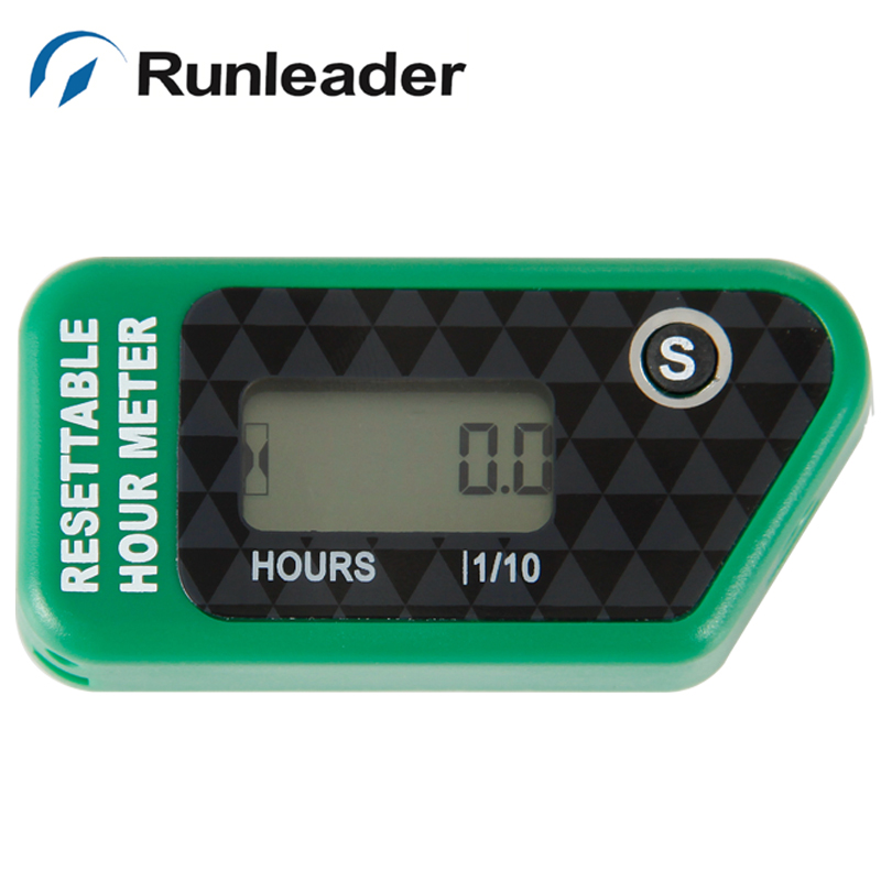 Runleader HM016H Maintance Hour Meter TACH Supercross Inductive Hour Meter For UTV Dirt bike Jet Ski Go Kart 2/4 Stroke Engine