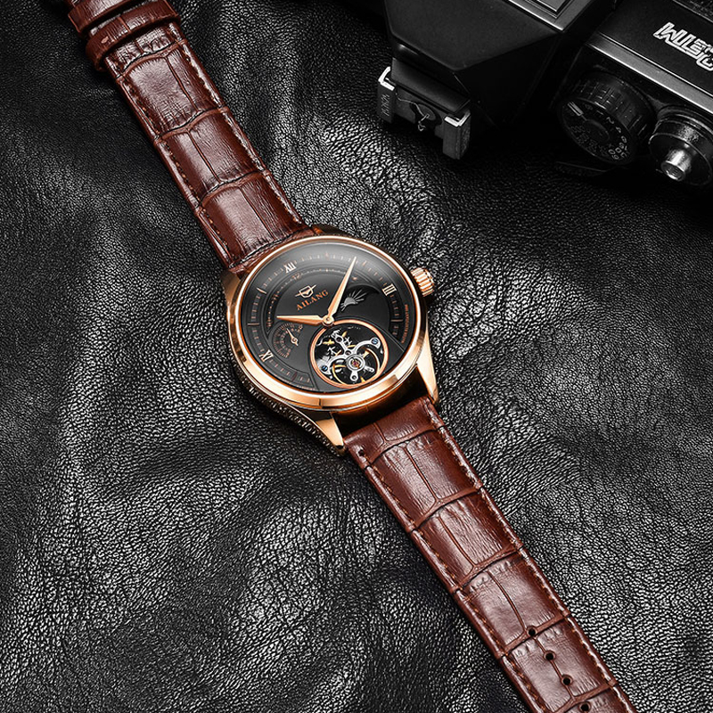 NEW Automatic Mechanical Watches Mens Watches Top Brand Luxury Sapphire Genuine Leather Original Tourbillon Hollow Movement NEW Automatic Mechanical Watches Mens Watches Top Brand Luxury Sapphire Genuine Leather Original Tourbillon Hollow Movement