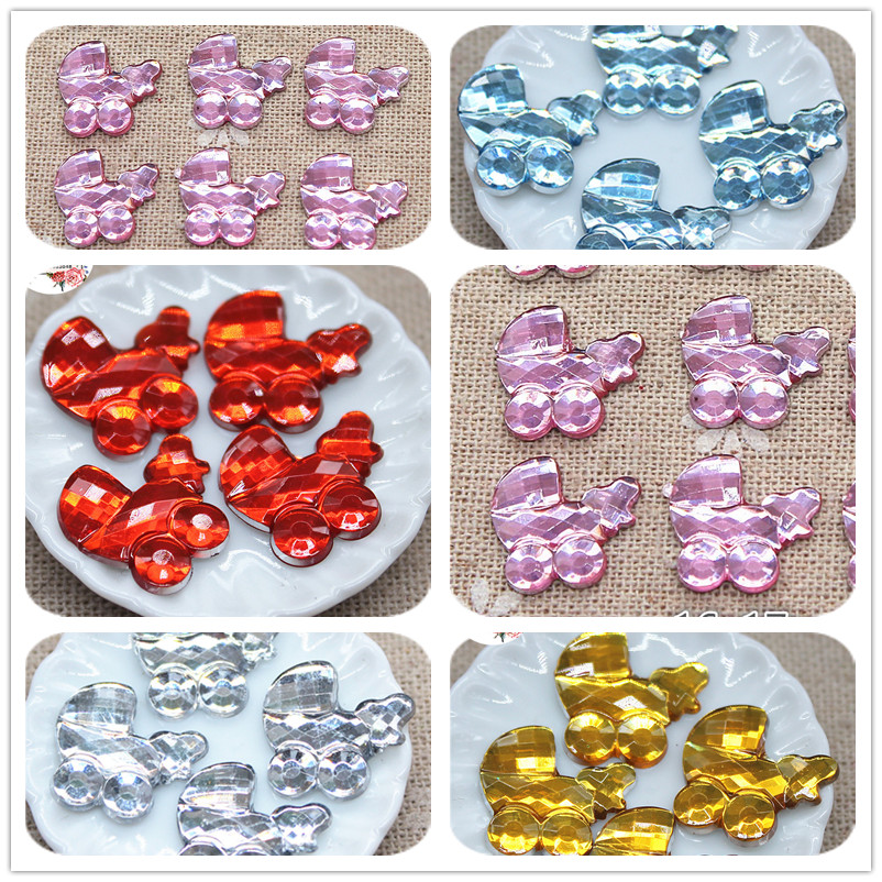 """100 pieces of 3//4/"""" Resin Baby for baby shower decoration"""