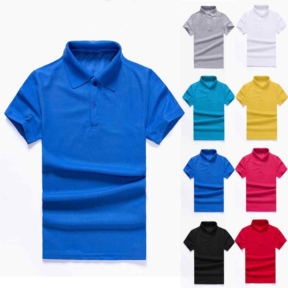 Men's Summer Fashion Tight Sports Casual Solid Sleeveless Shirts Top Blouse Breathable Polo Shirt For Men Desiger Quick drying